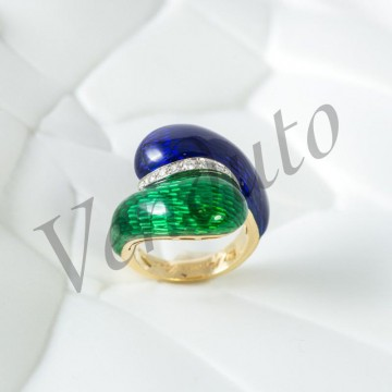 Anello due smalti