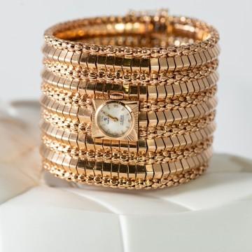 Bracciale orologio oro rosa