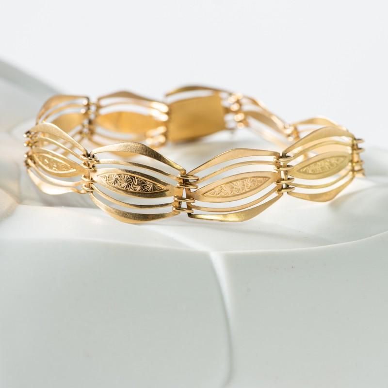 Bracciale antico 1940 oro giallo