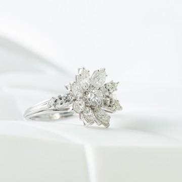 Anello diamanti marquise 1970