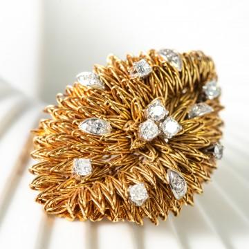 Spilla anemone 1950 con diamanti