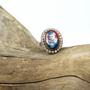 Anello miniatura con diamanti 1920