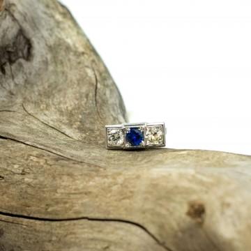 Anello zaffiro e diamanti 1930