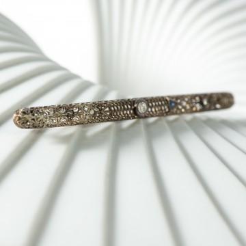 Spilla art nouveau diamante e zaffiri
