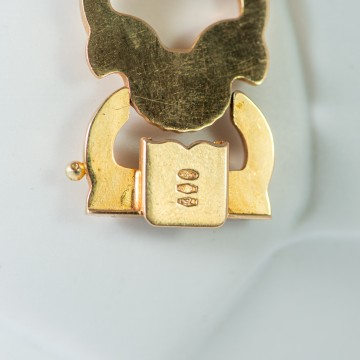 Bracciale vintage conchiglia oro giallo