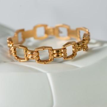 Bracciale vintage punzone oro giallo