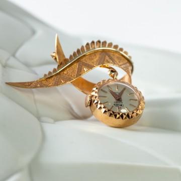 Spilla orologio 1950 oro rosa